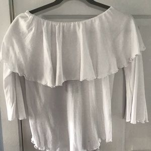 Chaser Off the Shoulder White long sleeve